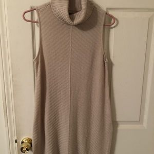 Sleeveless, turtleneck sweater dress